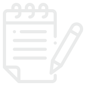 Note Pad Icon for Homepage Section about Intake Process