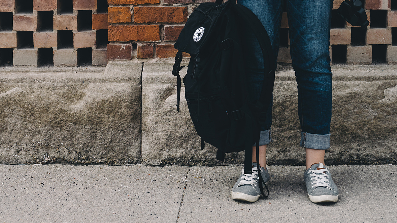 Teen with Bookbag for Homepage Slider